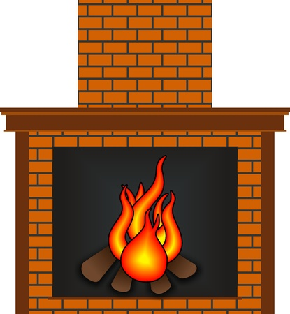 Fireplace Stock Vector - 12033884
