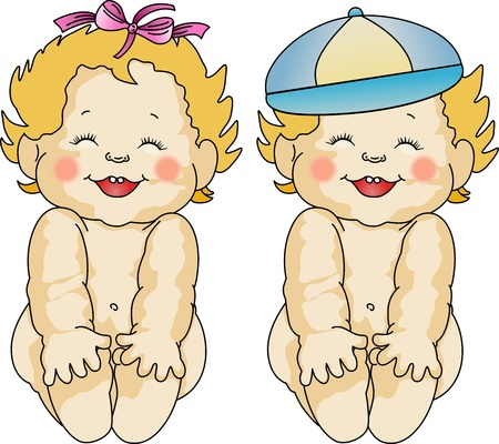 funny baby: Babies Love Illustration