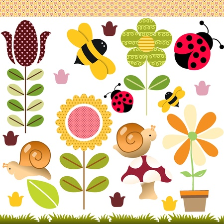 Spring Collage Vector