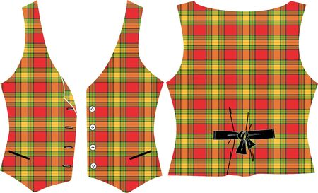 Plaid Vest Stock Vector - 12101218