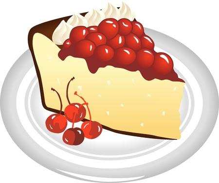 slice of cheesecake Stock Vector - 12380072