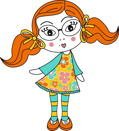 fashion doll: Girl with striped socks