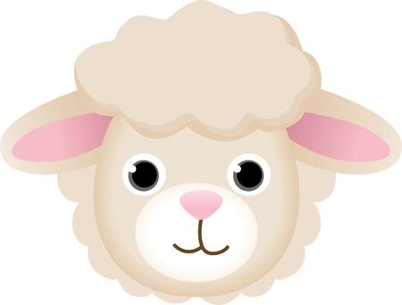 sheep clipart: Sheep Face