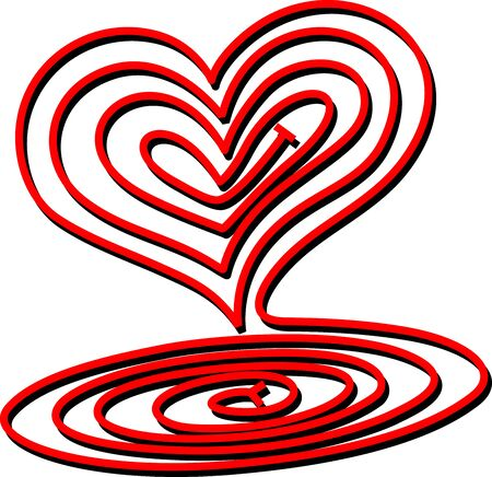 Heart Spiral Stock Vector - 12380083