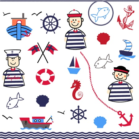 Digital Collage of Nautical Vector