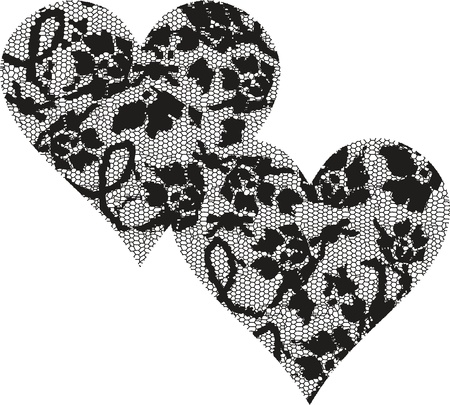 Hearts Lace Vector