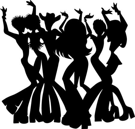 disco girls: People Dancing