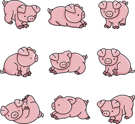 Baby Pigs Stock Vector - 12380095