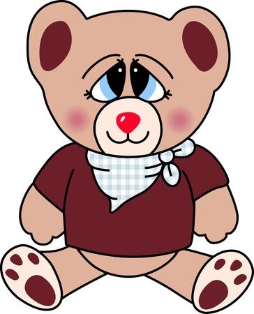 Cute Teddy Bear Love Vector