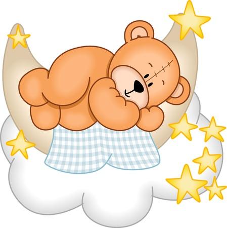 oso caricatura: Sweet Dreams oso de peluche