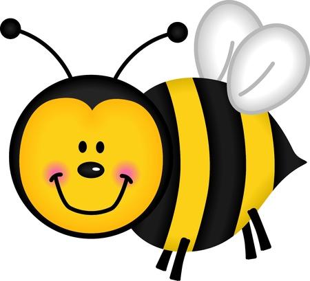 abeja caricatura: Feliz de la abeja