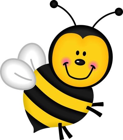 abeja caricatura: Joyful Bee
