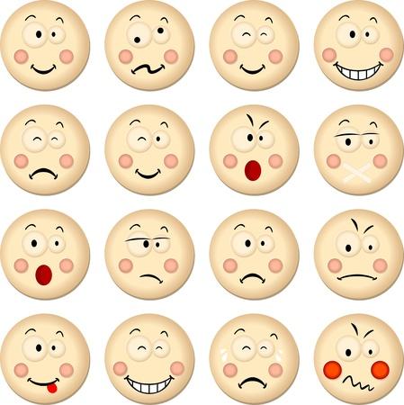 children school clip art: Cookies Smiles