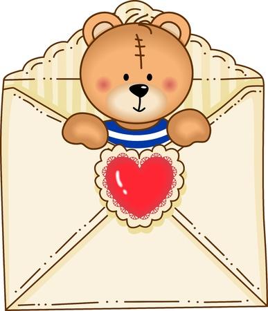 day dream: Bear Inside Envelope