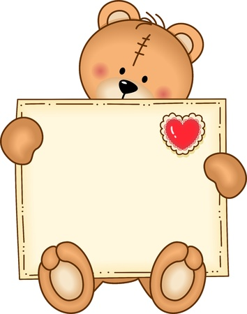 Bear Secure Envelope Vector