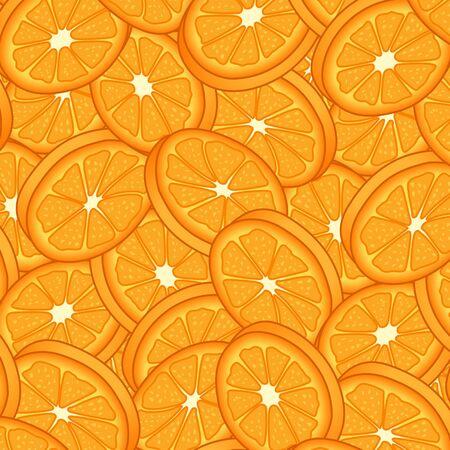 Orange Slices Background Vector