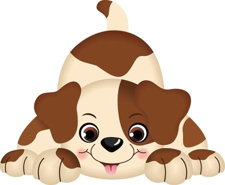 Dog Pet Grając Ilustracje wektorowe