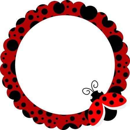 cartoon frame: Ladybug Circle telaio
