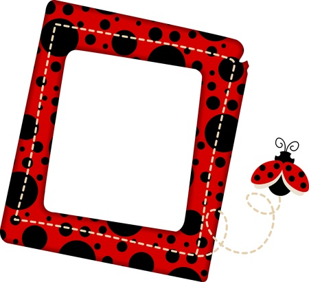 Ladybug Frame Vector