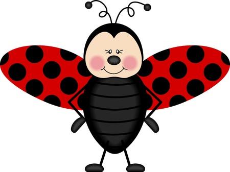ladybugs: Ladybug wings Illustration