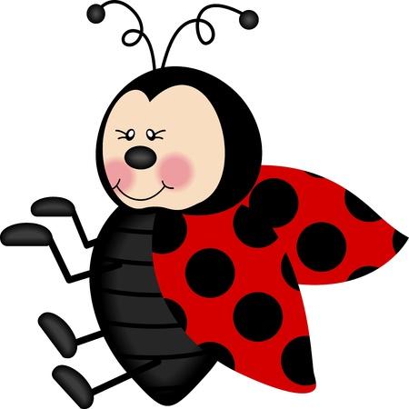 Lovely Ladybug Illustration