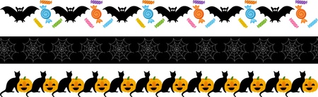 Halloween Fright Ribbon Vector