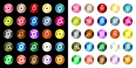 sequins: Colored Paillette Illustration