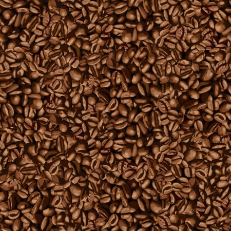 Coffee bean wallpaper Vector