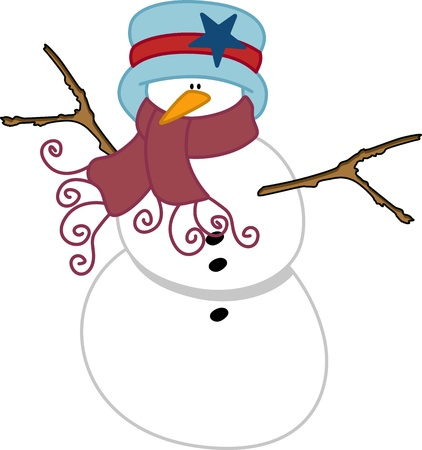 natale: Christmas snowman Illustration