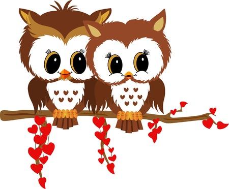enamorados caricatura: Valentine b�hos Vectores