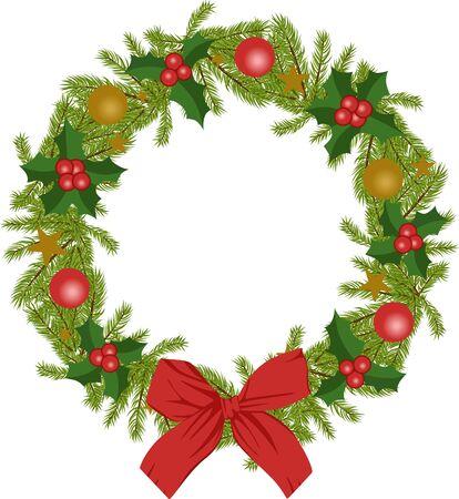 corona navidad: Navidad corona Vectores