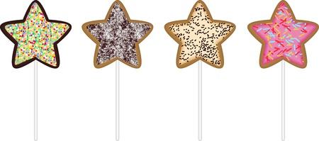 christmas star cookies stock vector 16016267