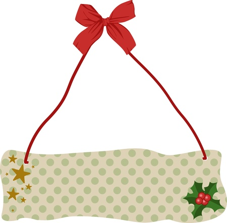 Christmas tablet hanging Vector