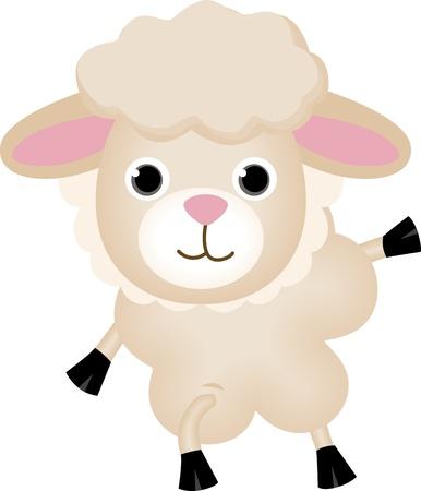 sheep clipart: Cute Sheep Illustration