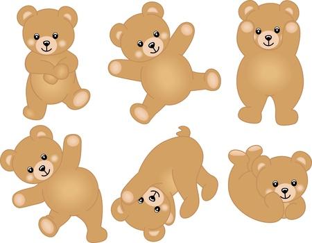 oso: Oso de peluche lindo del beb� Vectores