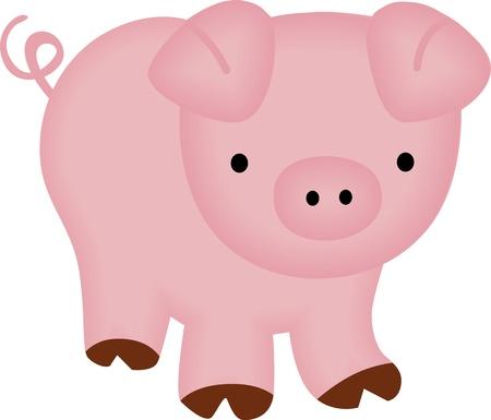 chancho caricatura: Cute Piggy