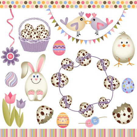 Easter digital elements Vector