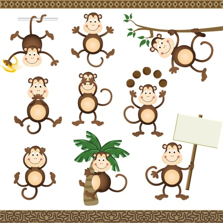 varying: Monkey in varying positions
