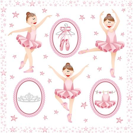 ballet clásico: Pink bailarina digital collage