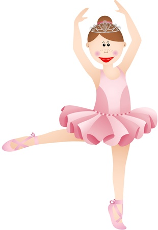 Cute ballerina girl Illustration