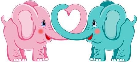 baby elephant: Elephants in love