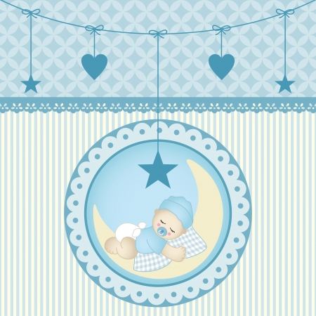 Sleeping baby boy Stock Vector - 19210003