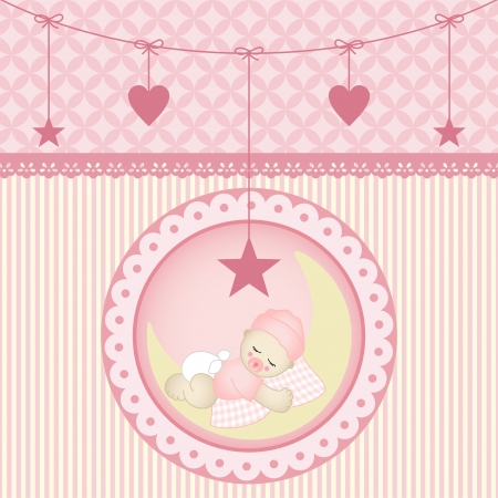 Sleeping baby girl Stock Vector - 19210004
