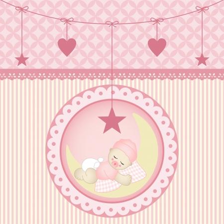 Sleeping baby girl Stock Vector - 19210004