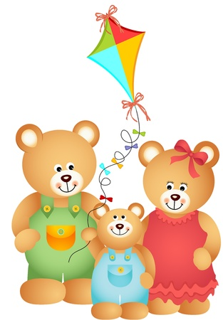 Teddy Bear Family Vector