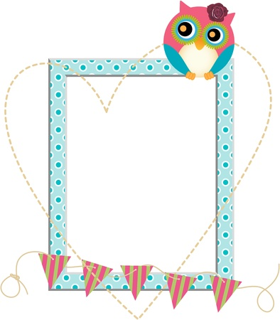 Owl Frame Illustration