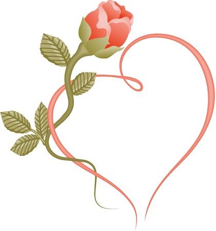 Rose szív keret
