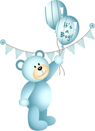 It s a Boy Teddy Bear Illustration
