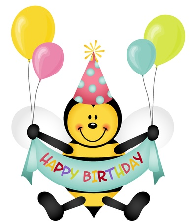 bee party: Happy Birthday Bee