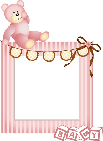 newborn baby girl: Pink Baby Frame